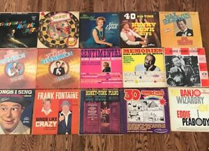 Lots of Vintage Records and Elton John Magazine 1975