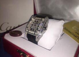 Cartier Santos 100 - Diamond Watch