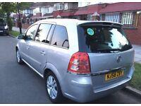 2008 Vauxhall Zafira 1.9 L SRI with live PCO , 1 YEAR MOT , 7 Seaters