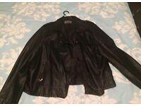 Faux leather women's jacket size 24