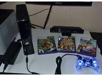 Xbox 360 + Kinnect Sensor + 3 Games