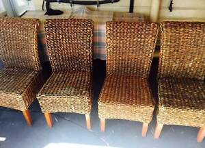 Cane Dining Chairs Raceview Ipswich City Preview