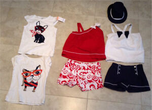 Gymboree Girls French bulldog spring/ summer line Size 12