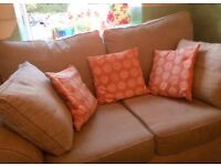 Stamford sofas, 2 seater and snuggle, very good condition, 3 years old
