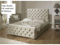 Special crushed velvet bed
