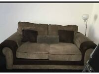 Brown sofa sette and swivel arm chair