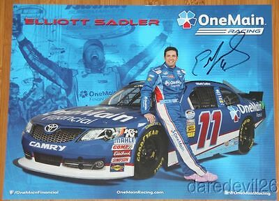 2013 Elliott Sadler Signed One Main Financial Toyota Camry Nascar Postcard