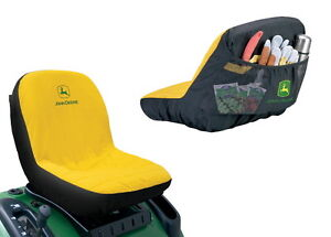 John Deere Mid-Back Seat Cover for Riding Mowers - NEW