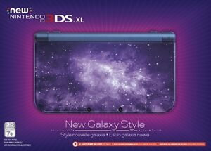 Nintendo 3DS XL Galaxy Edition + charger +  2 games
