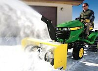 "John Deere X300 Select-Series Lawn Tractor with 44"" Snow Blower"