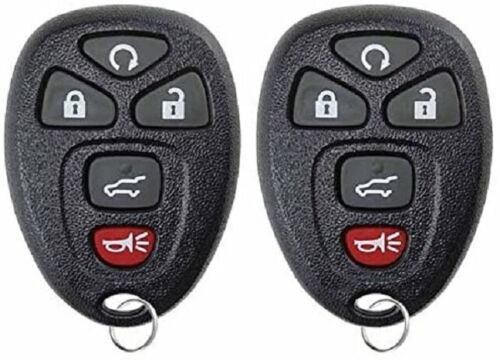 2-PACK KEYLESS ENTRY REMOTE CONTROL CAR KEY FOB REPLACES 15913415 NEW