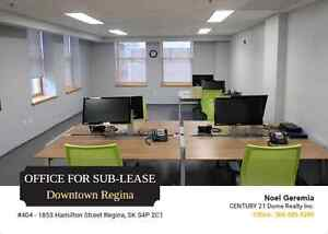 Office Space For Sub-Lease, Downtown Regina