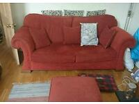 Lovely comfy red sofa - FREE