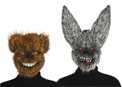 Erwachsene Halloween Maske Herren Killer Teddybär Zombie Hase Kostüm Zubehör