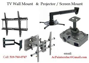 TV Wall Mount & Projector Screen Mount - Kitchener Waterloo