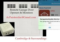 Install Remote Garage Door Openers & Monitors