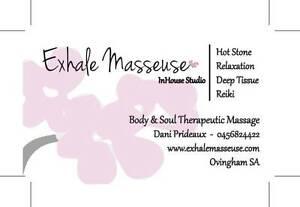 Exhale Masseuse- InHouse Studio Ovingham Charles Sturt Area Preview