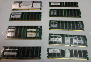 17 Computer Memory Chips (Various capacities & Brands)