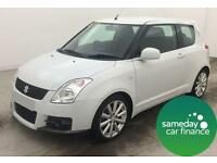 £120.91 PER MONTH WHITE 2011 SUZUKI SWIFT 1.6 VVT SPORT 3 DOOR MANUAL PETROL
