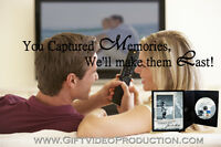 Video Editing Services - Home videos to lasting movies!