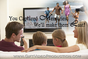 Video editing for your Family Home and Wedding videos