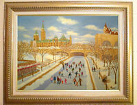 ORIGINAL OIL PAINTING OF THE RIDEAU CANAL