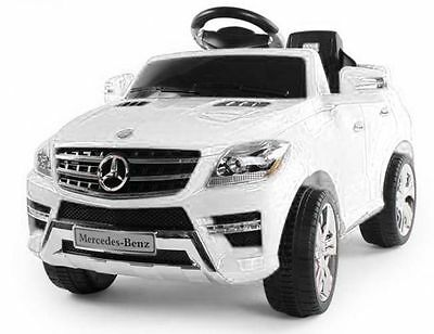 Mercedes Benz ML350 JEEP SUV KINDER ELEKTRO AUTO KINDERFAHRZEUG RC MP3 Weiß NEU