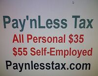 All Personal Income Tax Returns $35