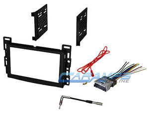 CAR STEREO RADIO DASH INSTALLATION TRIM DOUBLE 2 DIN BEZEL KIT W/ WIRING HARNESS