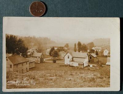 - 1913 Loyd,Wisconsin RPPC Birds Eye View REAL PHOTO postcard-Kokomo,Indiana-RARE*
