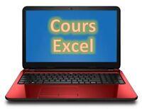 Cours informatiques sur Excel basés sur les exercices (25$)