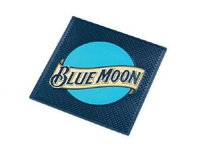 BLUE MOON BELGIAN WHITE ALE BEER LARGE SPILL MAT BAR COASTER NEW