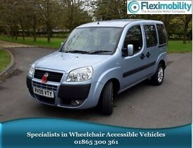 2009 FIAT DOBLO DYNAMIC BLUE Wheelchair-Accessible Vehicle WAV Disabled Car