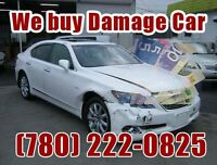 Damaged car buyer, scrap car removal & free tow, 7802220825