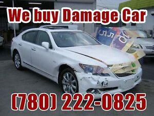 Sell your damaged car buyer scrap car removal free tow7802220825 Edmonton Edmonton Area image 1