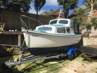 Parkstone Bay 21 with 33 Barras Diesel Engine on Trailer for Sale