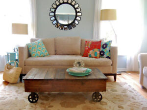 New Cart Coffee Table - Classic - Real Wood - Solid - Delivery A