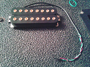 Bare Knuckle Aftermath 8-string Pickup with Gold Bolts