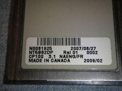 Nortel Norstar Flashcard Call Pilot 100150 R3.1 Nt5b82 Enfr Enspcantonese
