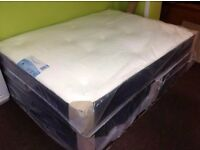 Brand New 4ft6 Double/4ft Small Double Divan Bed Base with Sprung Memory Foam Orthopaedic Mattress