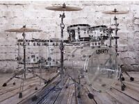 Liberty Drums - Clear Cast Acrylic Series Drum Kits