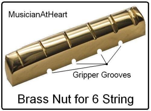 MusicanAtHeart NO GLUE Brass Nut made for EPIPHONE Guitar Les Paul SG 335...
