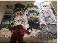Huge bundle of boys clothes ages 0-3 months