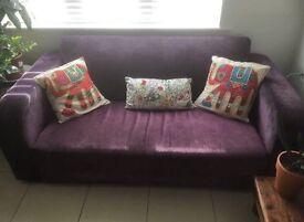 2 x Purple Retro Sofas