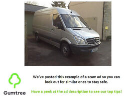 Mercedes Benz sprinter panel van, MOT and TAX, QUICK SALE! -Read the desc before replying to the ad!