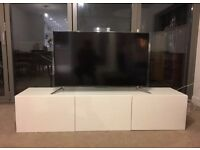 Besta TV cabinet high gloss white