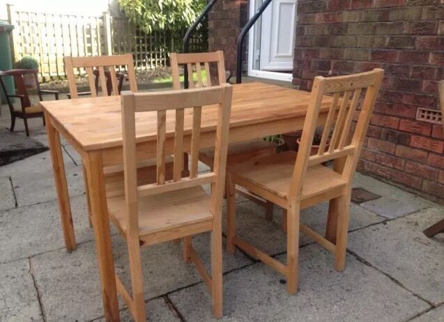 ikea ingo ivar table 4 chairs in pudsey west yorkshire gumtree. Black Bedroom Furniture Sets. Home Design Ideas