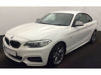 White BMW M2 Coupe auto 2015 Alloys Leather FROM £114 PER WEEK!