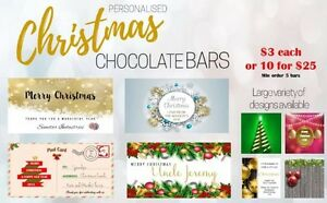Quality Christmas Chocolate Bars Personalised - delicious Carlingford The Hills District Preview