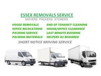 Man and Van Removals Essex House Office Moving Services Rubbish Clearance Cleaning Services Essex